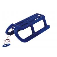 Сани AlpenRodel пластиковые с армированными полозьями, шнур с рукояткой в комплекте, прочный, стойкий к низким температурам пластик, цвет синий