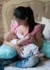 """Подушка для беременных и кормящих мам """"Незабудка"""" беж/голуб (140 см)"""