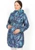 """Куртка демис. 3в1 """"Вуаля"""" бирюзовая пейсли для беременных и слингоношения"""