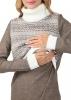"""цена Теплое вязаное платье для беременных и кормящих """"Юджин"""" кофейное"""