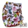 Многоразовые плюшевыйе подгузники GlorYes! птички на розовом