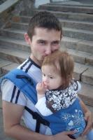 6. Слинг, как ни что другое, сближает и вызывает нежность... Папа Вася и сынок Ванюша.