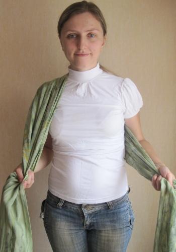 какзавязать слинг-шарф