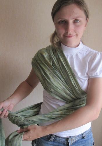 Как завязывать.  Фото инструкция к слингу шарфу.