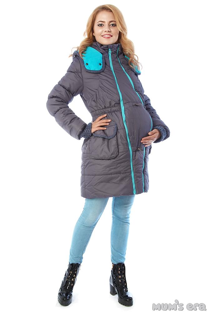 Зимняя куртка 3 в 1 «Глиона» грей для беременных и слингоношения ... e29acb7194f
