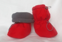 Тёплые Ямаля-бутс, красная плащевка/серый флис.